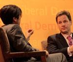 Shami Chakrabarti and Nick Clegg
