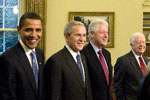 Jimmy Carter (far right) and successors