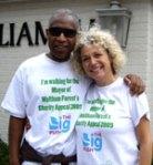 Simon Woolley and organiser Sue Buckman
