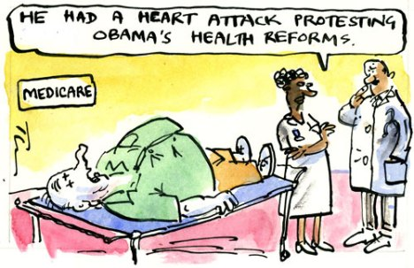 Obama's healthcare critics, as seen by cartoonist Tim