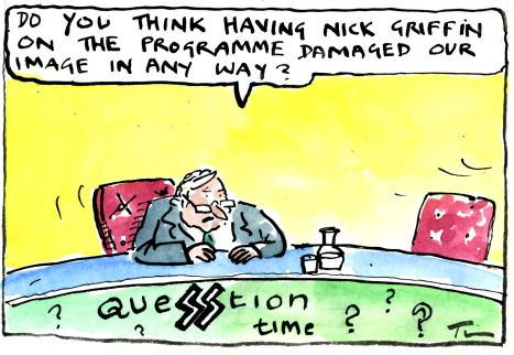 Our cartoonist Tim's take on Question Time