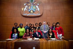 Members of Lewisham Civic Leadership Programme with Simon Woolley & Mayor Sir Steve Bullock